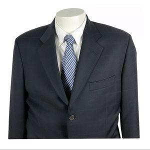HUGO BOSS Angelico Lucca Navy Windowpane 3B suit